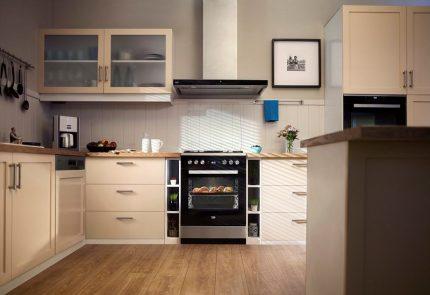 Veko stove in the interior of the kitchen