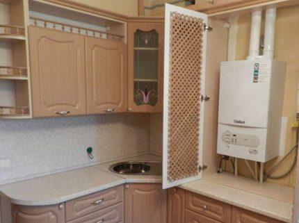 Gas and living quarters