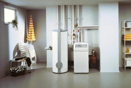 Gas non-volatile boiler in the interior