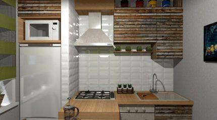 Isolation de réfrigérateur carrelée