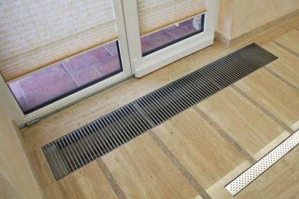 Floor convector heating