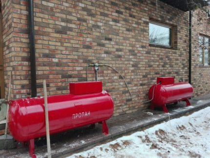 Porte-gaz pour le fonctionnement d'une chaudière à gaz