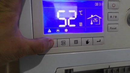 Code d'erreur de la chaudière à gaz Ferroli