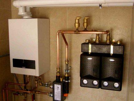 Chaudière à double circuit pour systèmes de chauffage
