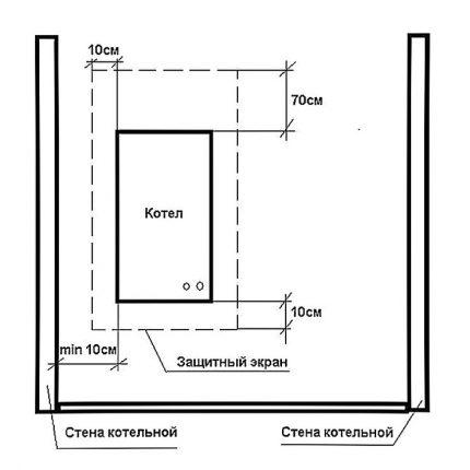 Insulating insert for boilers
