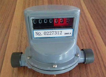 Conception mécanique du compteur de gaz