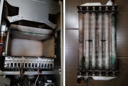 Scale on the heat exchanger