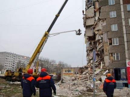 The consequences of a gas explosion in a residential building
