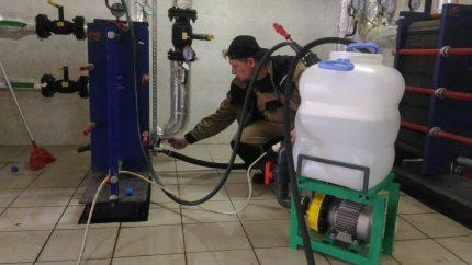 Nettoyage professionnel du réservoir