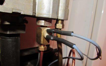 Connexion du capteur de tirage à la vanne