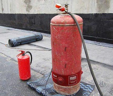 Récipient à gaz liquéfié d'hiver