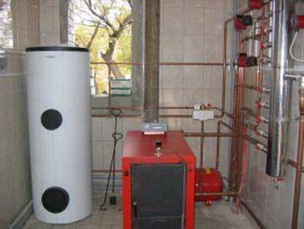 Gas boiler equipment