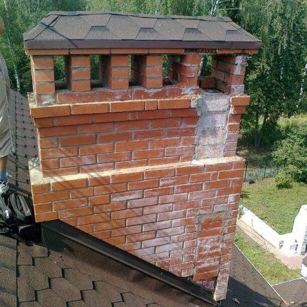 The gradual destruction of the chimney