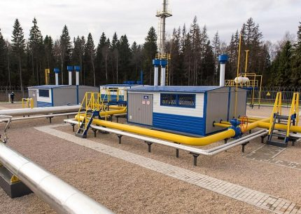 Gas distribution station of a new type