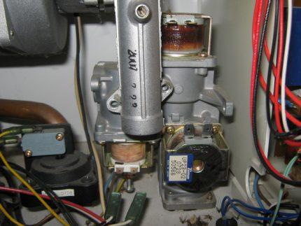 Repair of a gas boiler brand Daewoo