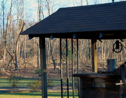 House-arbor on the house plot