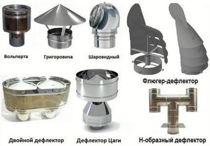 Modèles de déflecteurs de ventilation