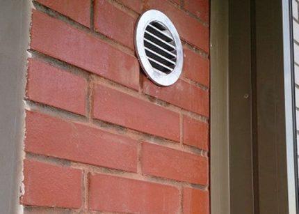 Installing a ventilation wall valve