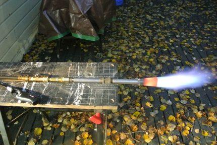 Homemade propane burner