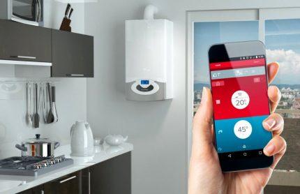 Commande de chaudière à gaz depuis un smartphone