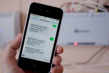 Messages SMS sur un smartphone