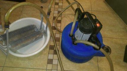 Rinçage de l'échangeur de chaleur bithermique