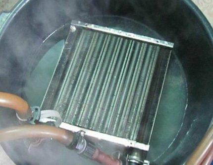 Faire bouillir l'échangeur de chaleur