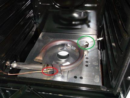 Allumage électrique et brûleur à thermocouple