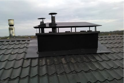 Box for ventilation pipes