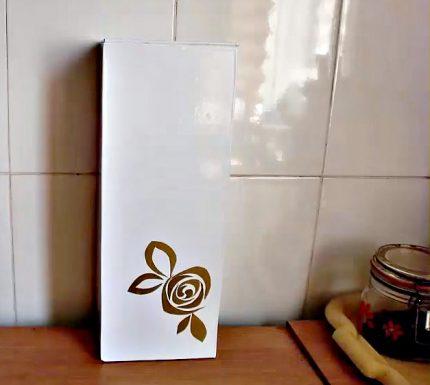 Fiberboard counter box