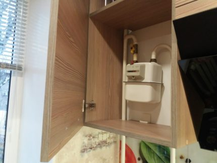 Counter in the kitchen cabinet