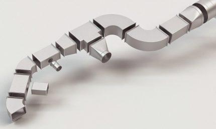 Éléments pour assembler des conduits en plastique
