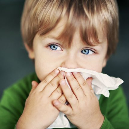 Runny nose in a child