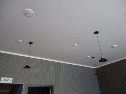 Plafond tendu avec ventilation