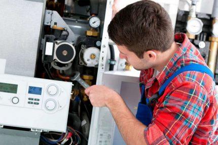 Repair of a gas boiler Beretta