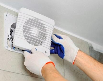 Izplūdes ventilatora aksiālais ventilators