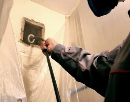 Nettoyage de la gaine de ventilation