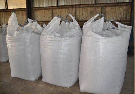 Organization of storage of pellets