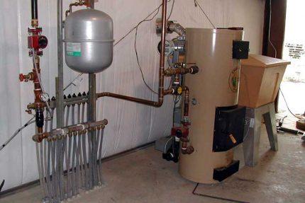 Automatic pellet boiler