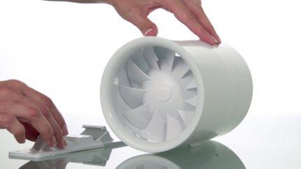 Kluss padeves ventilators