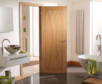 Airtight door in the bathroom