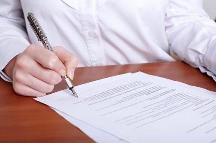 Drawing up a written complaint to gorgaz