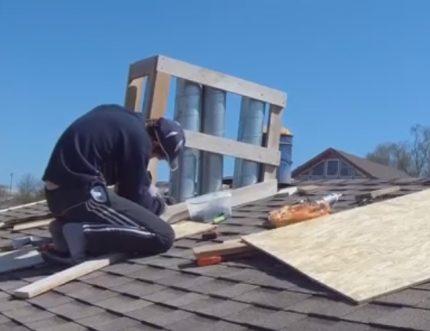 La construction du cadre du conduit de ventilation