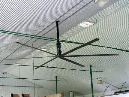 Horizontālais govju ventilators