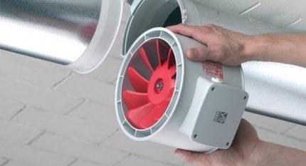 Round duct fan