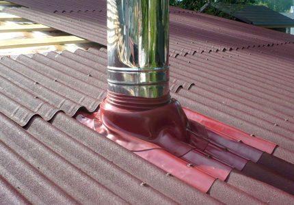 Jonction du tuyau de ventilation