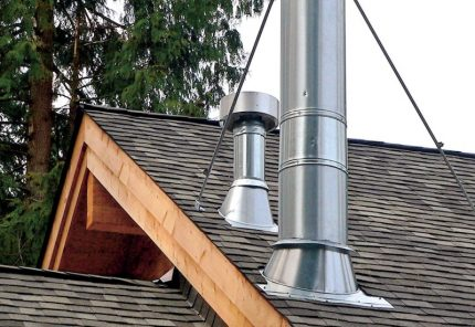 Tuyau de ventilation du toit du grenier
