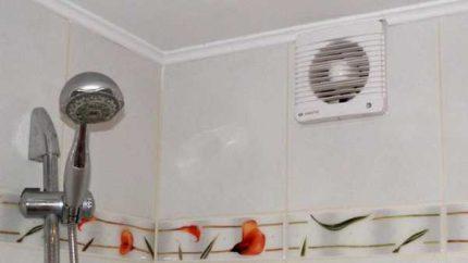 Ventilateur au-dessus du bain