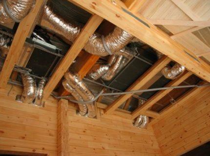 Système de ventilation mécanique d'une maison privée