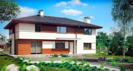 Maison à deux étages avec système de ventilation